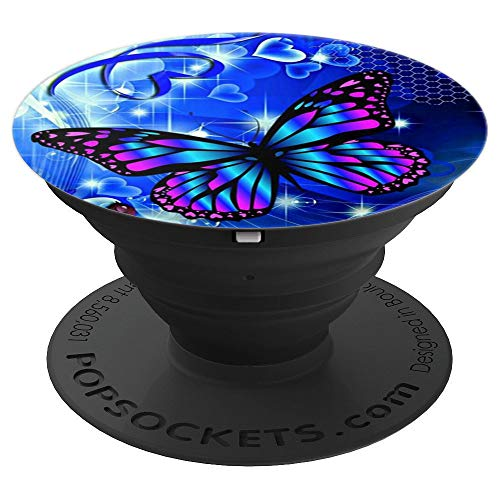 Pop Sockets Blue Fantasy Butterfly - PopSockets Grip and Stand for Phones and Tablets