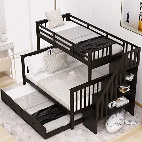 LUMISOL-Twin-Over-Full-Bunk-Beds-with-Storage-and-Guard-Rail-Wood-Trundle-Bunk-Bed-for-Kids-Adult-Espresso
