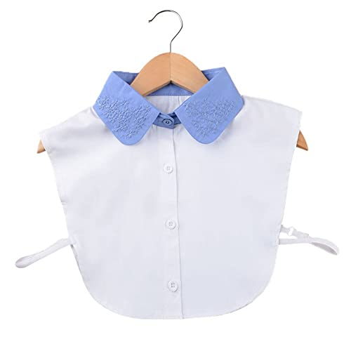 Vococal - Camiseta Mitad Falso de Algodón Surtido Color / Camisa Desmontable Lazo de Blusa Cuello Fa...