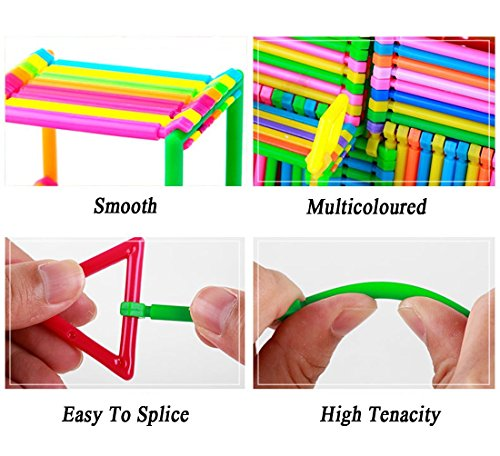 ArRord 205Pcs Bars Multiple Colors Shape Creative Toys Building Blocks 3D Puzzle For Child Boy Girl Gift by ArRord (Image #4)
