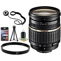 Tamron AF 17-50mm F/2.8 XR Di-II LD SP Aspherical (IF) Zoom Lens for Nikon Digital SLR Cameras + 67mm UV Filter + Lens Cap Keeper + Deluxe Starter Kit DavisMax Bundle