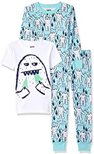 Amazon Brand - Spotted Zebra Boy's Snug-Fit Cotton Pajamas Sleepwear