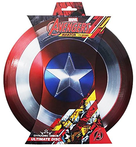 Dynamic Discs Ultimate Frisbee Marvel Captain America Shield Stamp Aviator Ultimate Frisbee Disc 175g