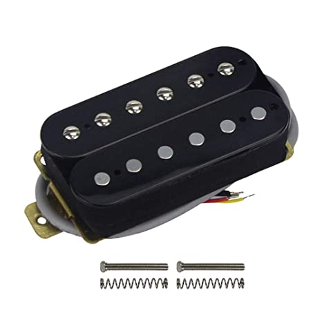 Healifty Accesorios de guitarra de recogida de doble bobina de guitarra eléctrica (cuello negro)