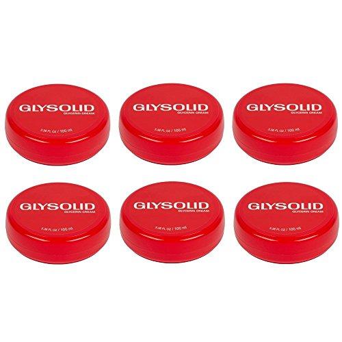 - 6 Glysolid Glycerin Cream for Skin Jar 3.38 Oz
