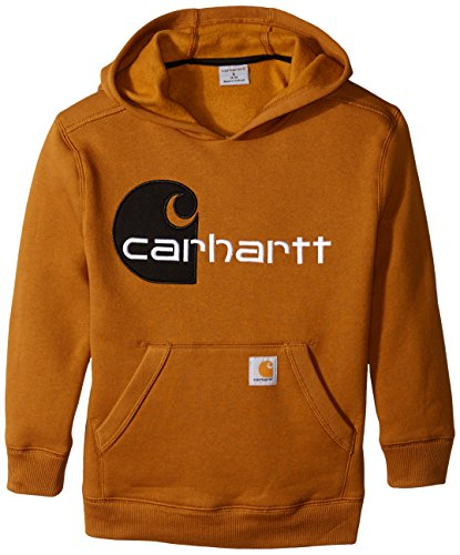 Carhartt Big Boys' C Sweatshirt, Carhartt Brown, Small