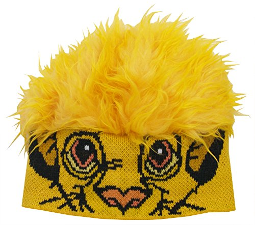 Lion King Simba Disney Movie Yellow Flair Hair One Size Adult Winter Beanie Hat