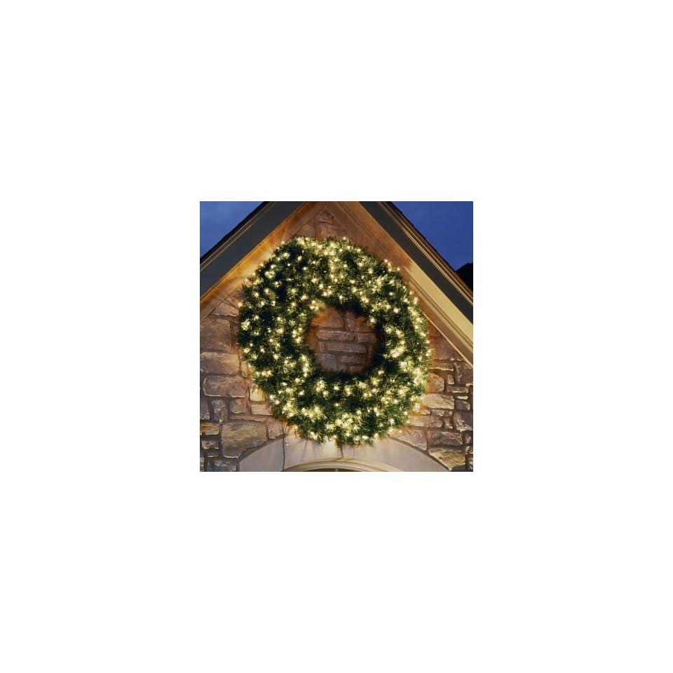 72 Pre lit Windsor Pine Artificial Christmas Wreath Clear Lights #ZWW906 GR