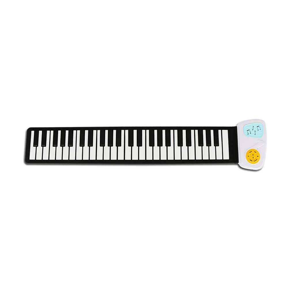 LINGLING-Tastatur Anfänger Hand Rolle Soft Piano 49 Key Keyboard Folding Tragbare Tastatur Kinder Studenten (Farbe   Weißszlig;) Weiß