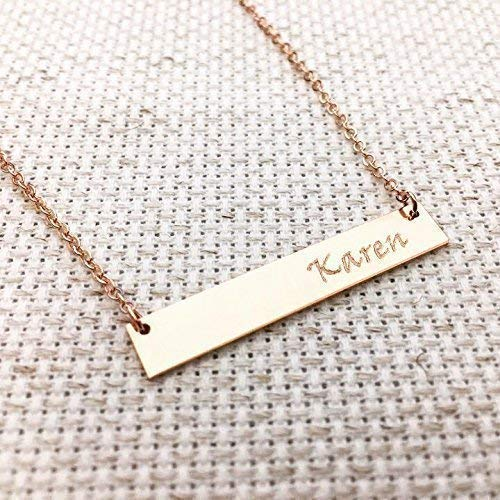 42f24788346 Personalized Name Bar Necklace -Rose Gold Fill, Sterling Silver,  Personalized Necklace, Gift For Her,rose gold filled,custom jewelry,Holiday  gift