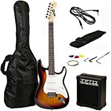 RockJam 6 String ST Style Electric Guitar Super Pack with Amp, Gig Bag, Strings, Strap, Picks, Sunburst (RJEG02-SK-SB)
