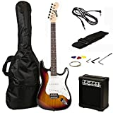 RockJam RJEG02 Electric guitar Starter Kit - Includes Amp, Lessons, Strap, Gig Bag, Picks, Whammy, Lead and Spare Strings. - Sunburst
