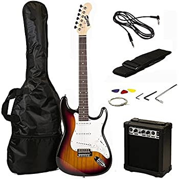 zeny 39 full size electric guitar with amp case and accessories pack beginner. Black Bedroom Furniture Sets. Home Design Ideas