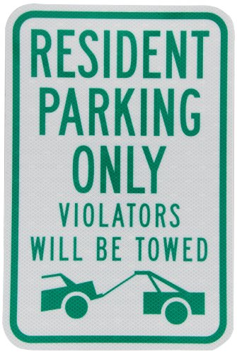 (Tapco RP-26 Engineer Grade Prismatic Rectangular Parking Sign, Legend