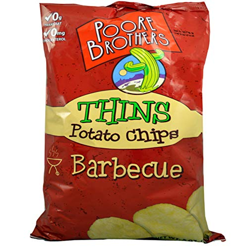 (Pack of 16) Poore Brothers Thins Potato Chips Barbecue 5 oz
