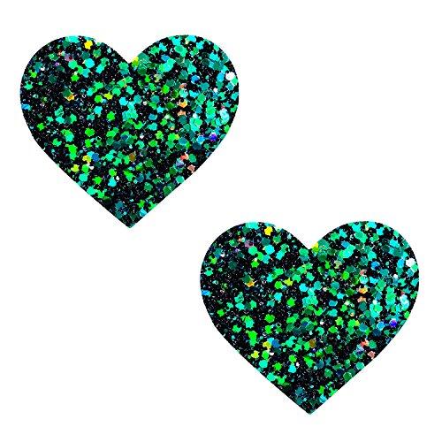 (Neva Nude Super Sparkle Green Envy Glitter I Heart U Nipztix Pasties Nipple)