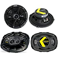 2) Kicker 41DSC654 6.5 240W 2-Way + 2) 40CS6934 6x9 450W 3-Way Car Speakers