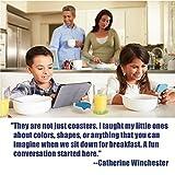ENKORE Coasters Novelty Set In 6 Rainbow Colors
