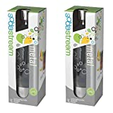 SodaStream 1-Liter Carbonating Bottle, Stainless Steel (2 pack) Packaging may vary