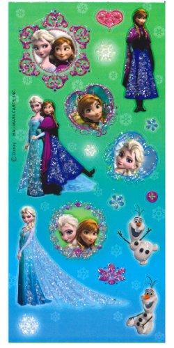 1 X Disney Frozen Glitter Stickers Party Favors