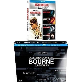 Pack: Misión Imposible 1 a 5 + Bourne 1 a 4 [Blu-ray]: Amazon.es ...
