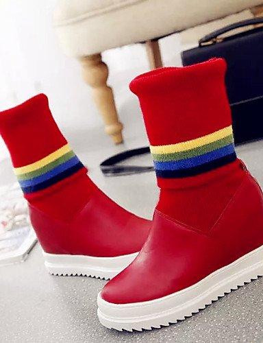 La Cuña A Uk3 Zapatos Tacón Black Redonda Moda De Casual Mujer Tejido Botas 5 negro Red Xzz Cuñas Cn39 Rojo Semicuero us5 Punta Uk6 Cn35 Vestido Eu36 5 Eu39 us8 xzIvqp