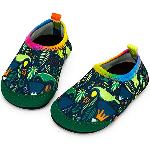 Apolter Baby Boys and Girls Swim Water Shoes Barefoot Aqua Socks Non-Slip for Beach ()