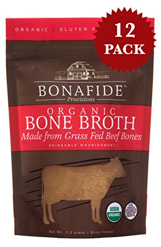 Bonafide Provisions Frozen Organic Bone Broth (Grass Fed Beef) 12 Pack