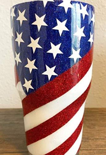 30oz Glitter American Flag Tumbler