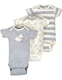 Baby Infant 3 Pack Organic Short Sleeve Onesies Brand...