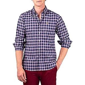 El Ganso 1050W170017 Camisa Casual, Marino Rojo, 43 para Hombre ...