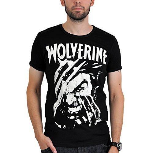 LOGOSHIRT X-Men Comic Herren T-Shirt WOLVERINE Schwarz Gr. M