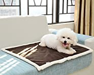 Dog Bed Cat Pet Bed Machine Washable Luxury Rectangle Bed with Soft Detachable Cushion for Small & Medium Pet