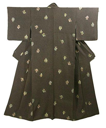 効率的アクセサリー召喚するリサイクル 着物 小紋  阿国歌舞伎のような人々 正絹 袷 裄64cm 身丈163cm
