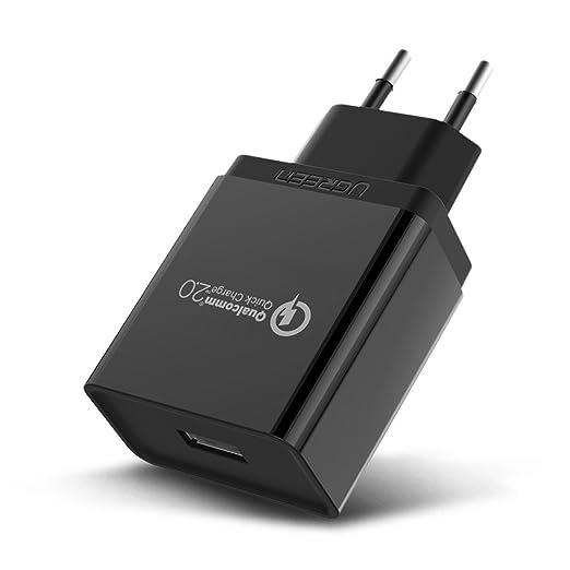14 opinioni per UGREEN Quick Charge 2.0 [Certificato Qualcomm], QC 2.0 18W Caricatore Rapido