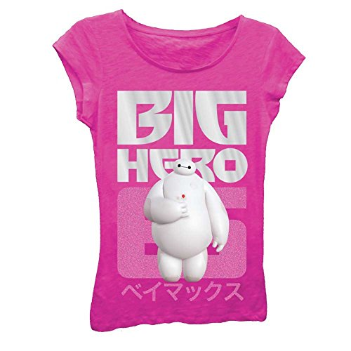 Disney's Big Hero 6 Six Girl's T-Shirt - Raspberry