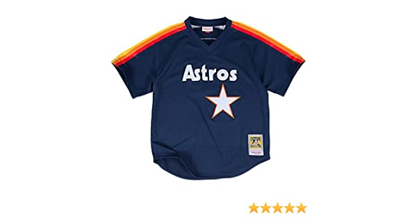 b2210b865be Amazon.com   Mitchell   Ness Jeff Bagwell Houston Astros Authentic 1991 BP  Jersey   Sports   Outdoors