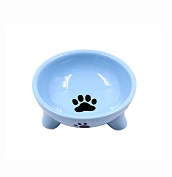 xueyan& Triángulo de mascotas Tazón de fuente de perro de cerámica Tazón de fuente de gato