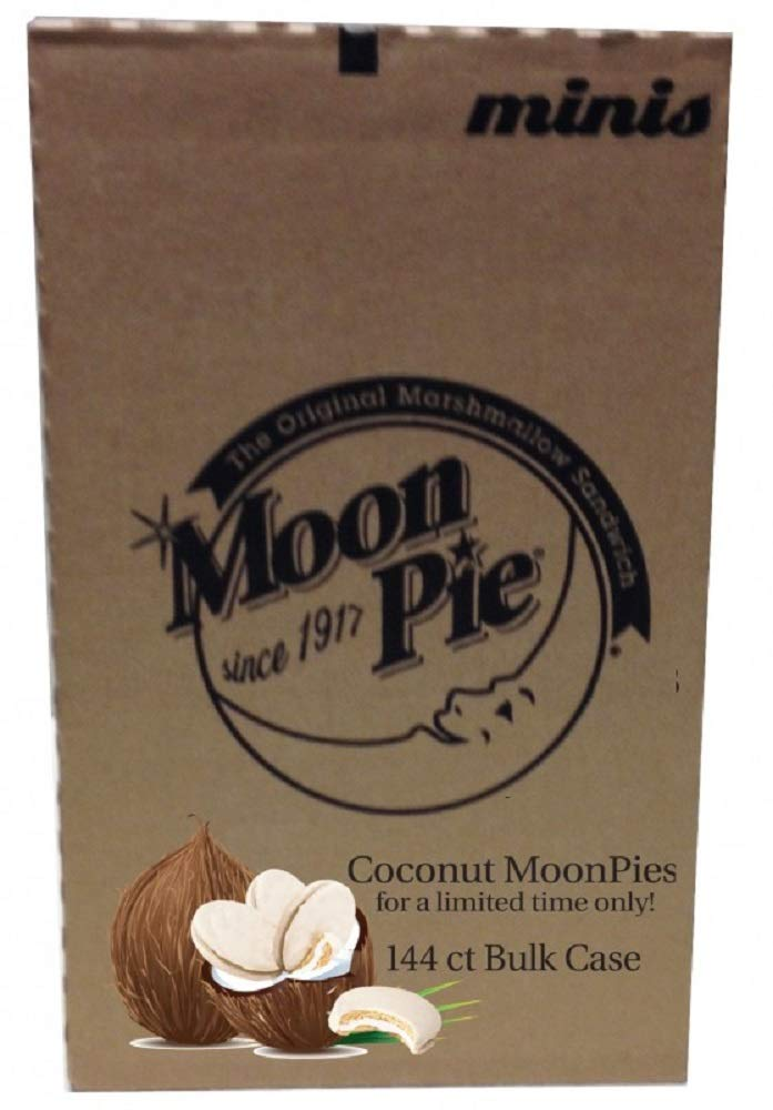 Limited Edition Official Coconut Mini MoonPie Packs (Case (12 boxes of 12))