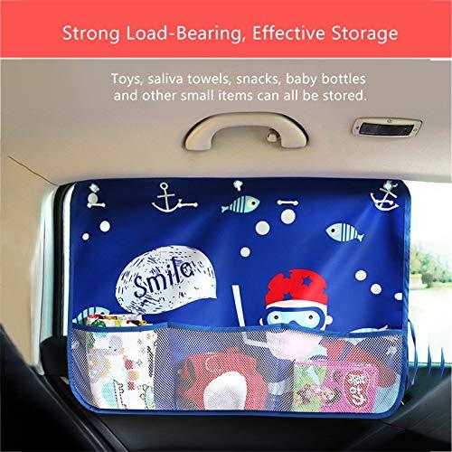 cortina con bolsillo de red para coches, camiones y SUV Cortina ATpart para ventana de coche parasol