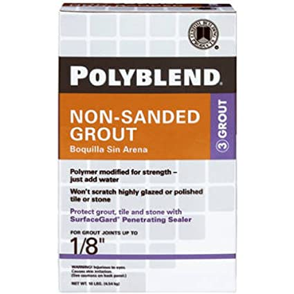 CUSTOM BLDG PRODUCTS PBG Pound Tan NonSanded Grout Tile - Best non sanded grout