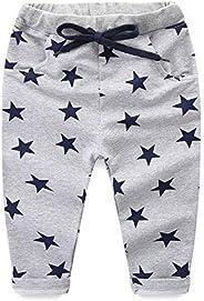 Mud Kingdom Toddler Boy Pants 3T Cotton Grey Star Print