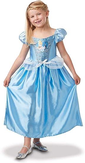 Princesas Disney - Disfraz de Cenicienta con lentejuelas para niña ...