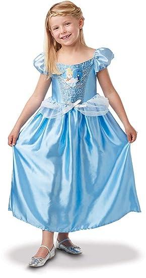 Princesas Disney - Disfraz de Cenicienta con lentejuelas para niña, infantil 3-4 años (Rubies 641020-S)