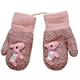 Fheaven Baby Gloves - Outdoor Warm Knit Winter Gloves Thicken Knitted Mittens