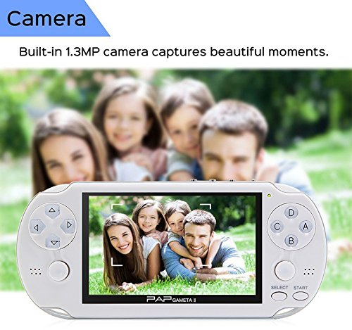 CZT Dual core 4.3 inch Handheld Game Console Video Game Console 16GB Built in 3000 CPS/NEOGEO/GBA/GBC/GB/SFC/MD/FC/SMS/GG Games MpS Player DV DC (Black) by CZT (Image #8)