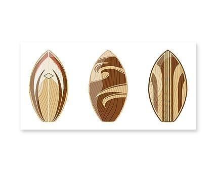 Amazon Com Lunarable Surfboard Wall Art Wooden Surfboards
