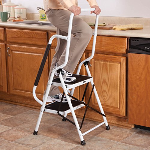 Step Ladder with Handles by LivingSURETM XL