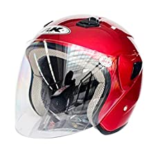 Tpfocus Open Face Helmet with Shield, Scooter Electrombile Motorcycle Half Helmet
