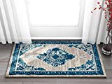 """Well Woven Talya Abstract Vintage Distressed Medallion Blue Beige 2×4 (2'3″ x 3'11"""") Area Rug Review"""